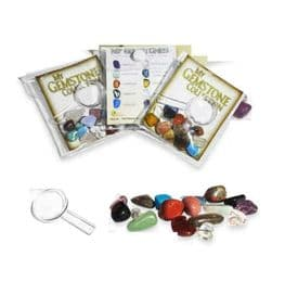 Natural Gemstones Magnifier School Fossil Kids Birthday Party Loot Goody Bag